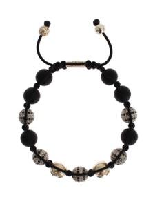 Nialaya CZ Black Matte Onyx 925 Silver Bracelet