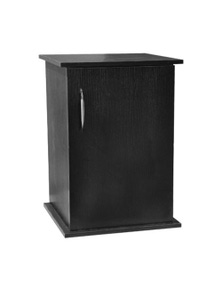 Urs Laminated Mdf Cabinet Home Decor Flat Packed Black Tower