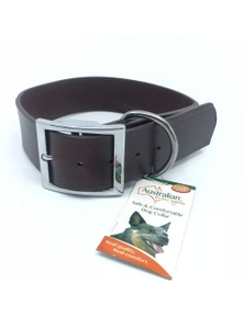 AgBoss Leather Dog Collar 38mm x 55cm
