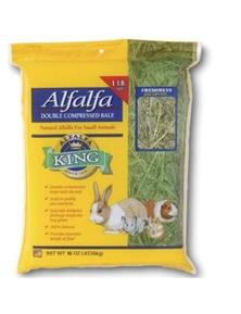 Alfalfa King Alfalfa Hay Natural Food for Small Animals 454g