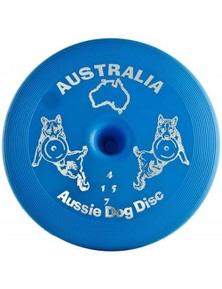 Aussie Dog Safe Flying Toy Disc Blue Floppy