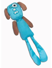 Ahs Longshots Ballistic Moondoggie Interactive Dog Toy Blue