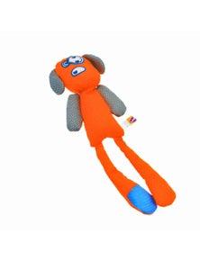 Ahs Longshots Ballistic Moondoggie Interactive Dog Toy Orange