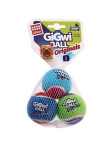 Gigwi Ball Originals Dog Toy Tennis Ball Small 3 Pack