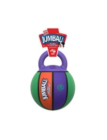 Gigwi Jumpball Rubber Handle Basketball Dog Toy Coloured