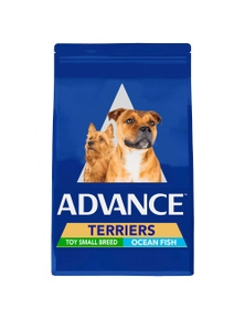Advance Terrier Toy Small Breed Dry Dog Food Ocean Fish 2.5kg
