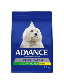 Advance Adult Dental Care Toy Small Breed Dry Dog Food Chicken 2.5kg