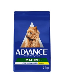 Advance Adult Mature Toy Small Breed Dry Dog Food Chicken 3kg