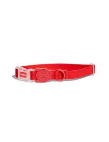 Zee Dog Neopro Adjustable Soft Dog Collar Coral Red Medium