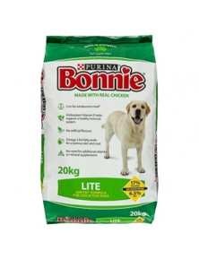 Purina Bonnie Lite Dog Food Reduce Weight Gain Low Fat 20kg