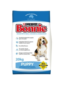 Purina Bonnie Puppy Complete Balanced Dry Dog Food 20kg