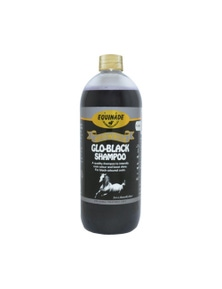 Equinade Showsilk Glo Black Enriches Deepens Colour Animal Horse 500ml