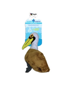 Spunky Pup Clean Earth Plush Pelican Dog Squeaker Toy Large