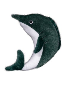 Spunky Pup Sea Plush Dolphin Dog Squeaker Toy Small
