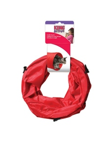KONG Cat PlaySpaces Tunnel Red Toy