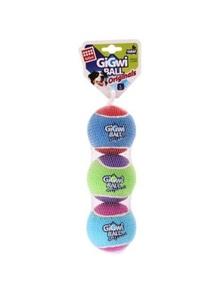Gigwi Ball Originals Dog Toy Tennis Ball 3 Pack - 4 Sizes