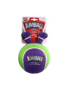 Gigwi Jumpball Rubber Handle Tennis Ball Dog Toy - 2 Colours