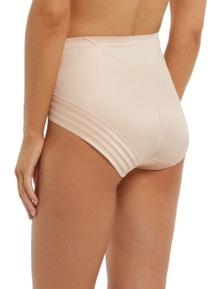 LaSculpte Women's  Hi Cut Stripe Shapewear Full Brief