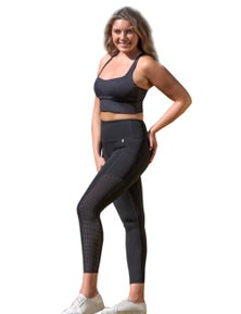 LaSculpte Women's F/L Laser Cut Tights with Phone Pockets