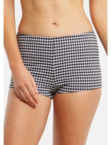 LaSculpte Women's Gingham Boyleg Shaping Swim Shorts