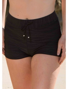 LaSculpte Women's Plus Size Textured Boyleg Swim Shorts