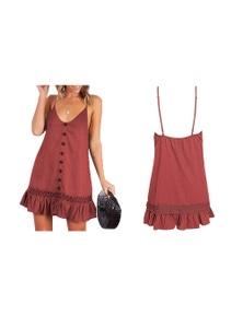Frill Hem Summer Dress