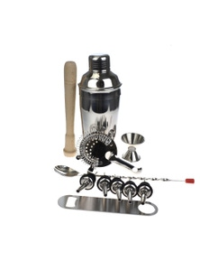Deluxe 10 Piece Cocktail Shaker Set - With Free Bar Blade