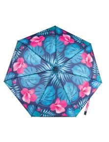 IS Gift Foldable Umbrella - Pink Leaves