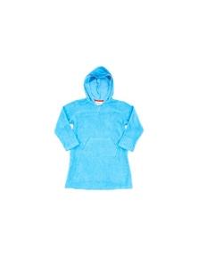 Bluesalt Blue Hooded Coverup