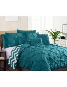 Ramesses Seven-Piece Pinch Pleat Comforter Set