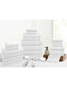 Kingtex 20 Piece 100% Cotton Bathtowel Set