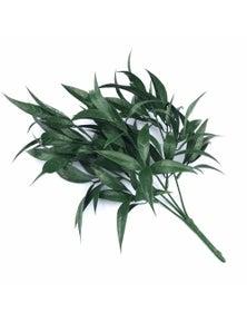 Designer Plants Artificial Dark Green Tipped Willow Oak Stem UV Resistant 30cm