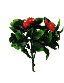 Designer Plants Artificial Flowering Red Rose Stem UV Resistant
