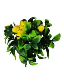 Designer Plants Artificial Flowering Yellow Rose Stem UV Resistant