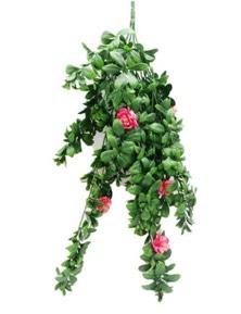 Designer Plants Artificial Hanging Pink Rose Stem UV Resistant 85cm