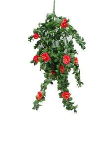 Designer Plants Artificial Hanging Red Rose Stem UV Resistant 85cm