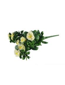 Designer Plants Artificial White Rose Bunch UV Resistant 45cm