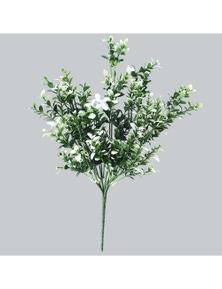 Designer Plants Artificial White Tipped Money Leaf Stem UV Resistant 32cm