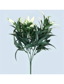 Designer Plants Artificial White Tipped Willow Oak Stem UV Resistant 30cm