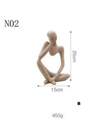 JaydeeBedding Abstract Thinker Statue Sculpture B