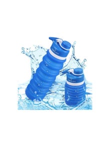Hoklan 750ml Collapsible Sports Water Bottle Travel Camping Blue