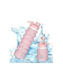 Hoklan 750ml Collapsible Sports Water Bottle Travel Camping Pink