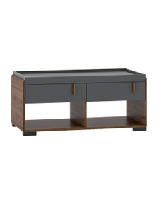Luco Hamis Walnut Coffee Table with 2 Drawers