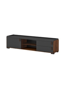 Luco Hamis 1.8m Walnut Entertainment Storage TV Unit