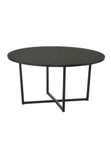 Luco Orva Black Round Coffee Table with Metal Legs - China Ash Veneer