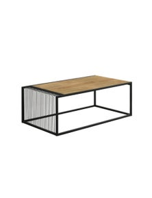 Luco Maha Industrial Style Coffee Table - Maple and Black