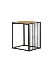Luco Maha Industrial Style Side Table - Maple and Black