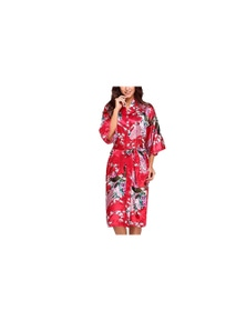 Japanese Inspired Silk Kimono Robe