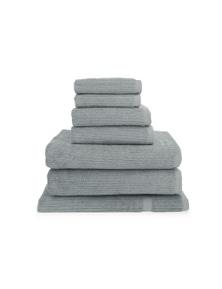 Shangri-La 7 Piece 100% Cotton Ribbed Bathtowel Set