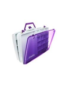 Littlebits Tackle Box Purple & White Two Layers LB-660-0013-0000A